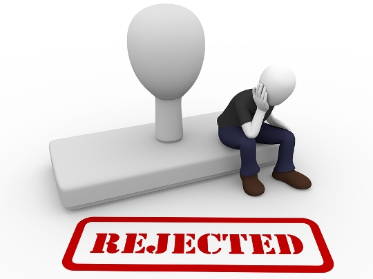 rejection in hindi