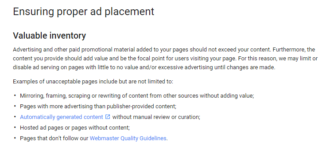 google adsense new ad policy