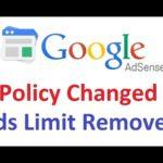 खुशखबरी : गूगल एडसेंस ने हटाई per page ads limitation