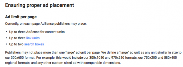 google adsense old ad policy