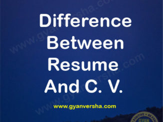 difference between resume & cv